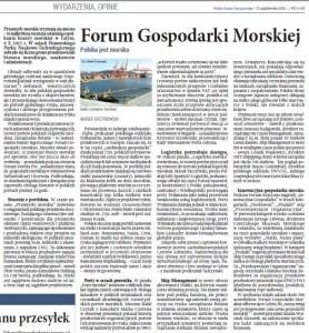Polska jest morska - Forum Morskie 2015
